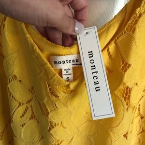Monteau S yellow lace top